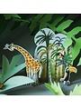 Pop-out kaart, Jungle Giraffe