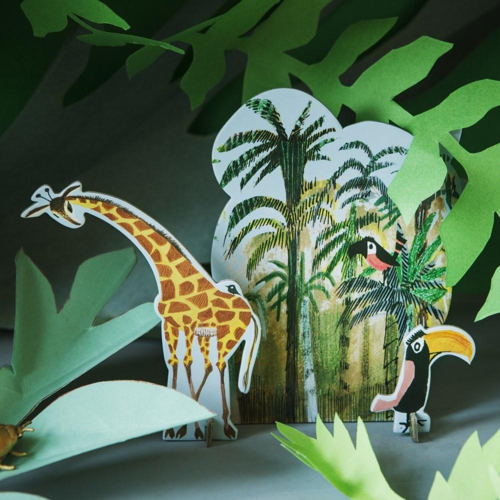 Pop-out-Karte, Jungle Giraffe