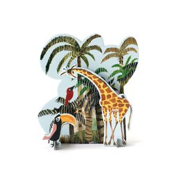 Studio ROOF Pop-out kaart, Jungle Giraffe