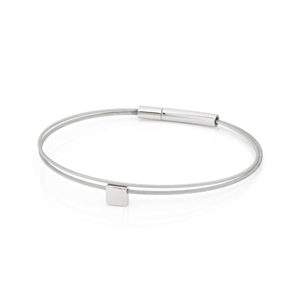 Thinking of You ⬜ Armband Basic Silver