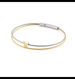 Clic  Dutch Design Jewelry Thinking of You Schmetterlingsarmband Gold