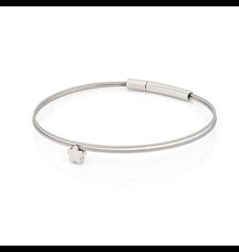 Clic  Dutch Design Jewelry Thinking of You Flower Bracelet Basic Silver