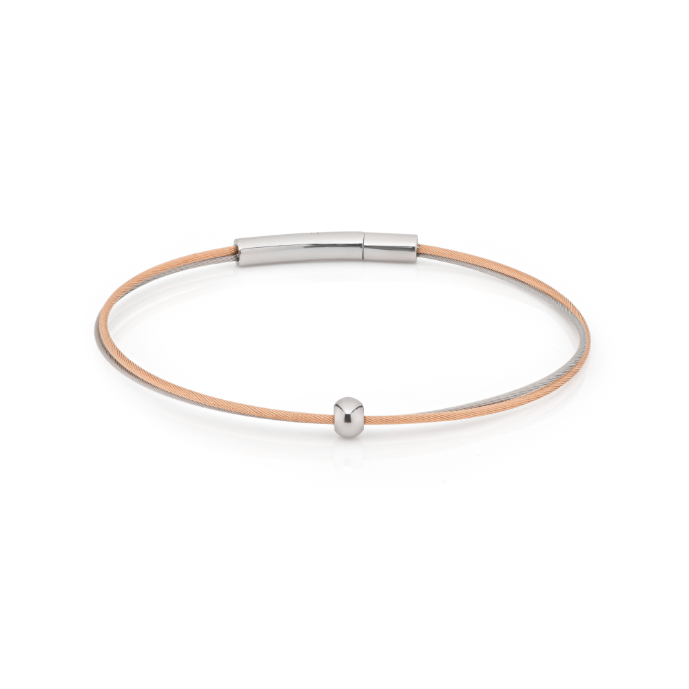 Thinking of You Armband Rosé Bolletje Silber