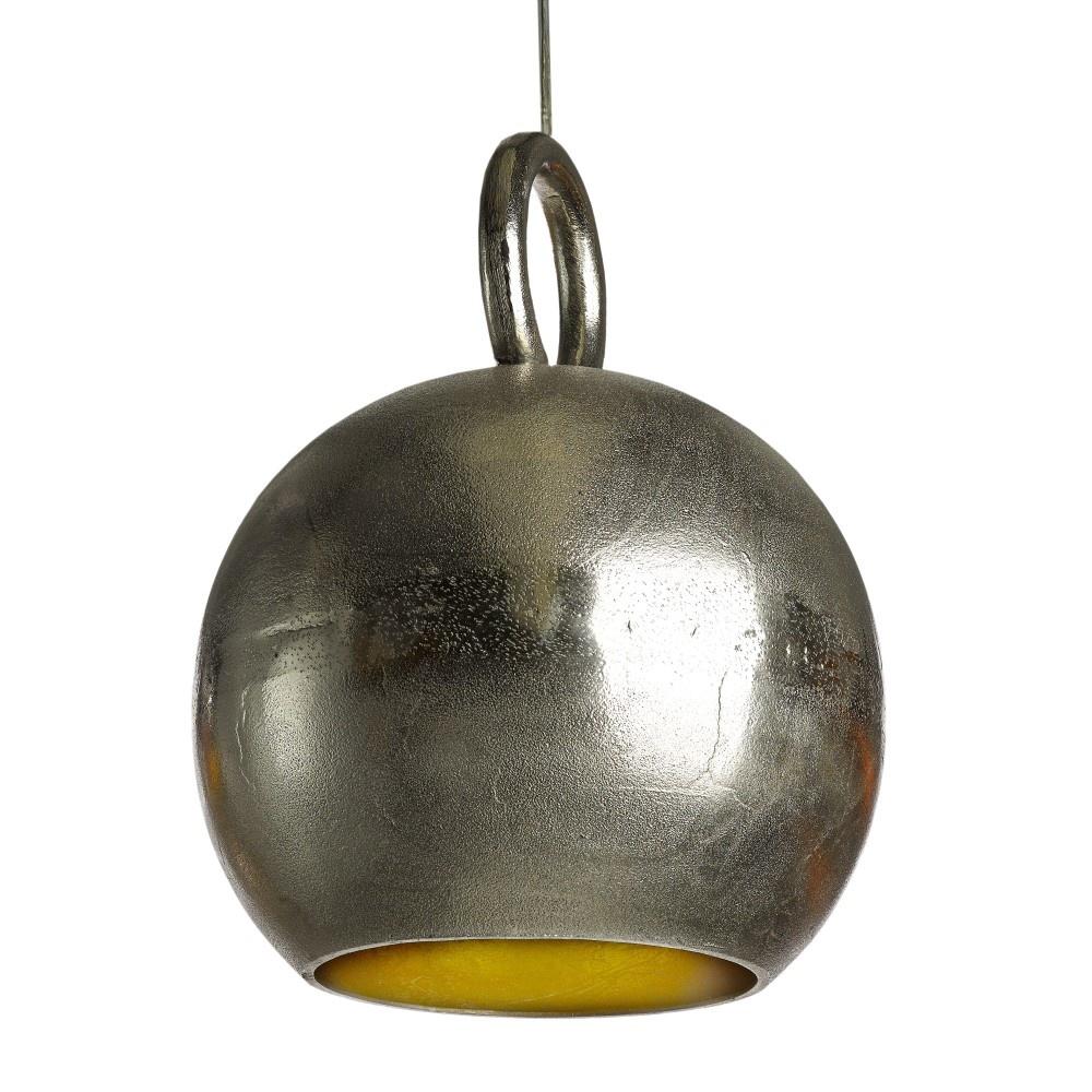 Lampe Kettlebell Nickel und Gold