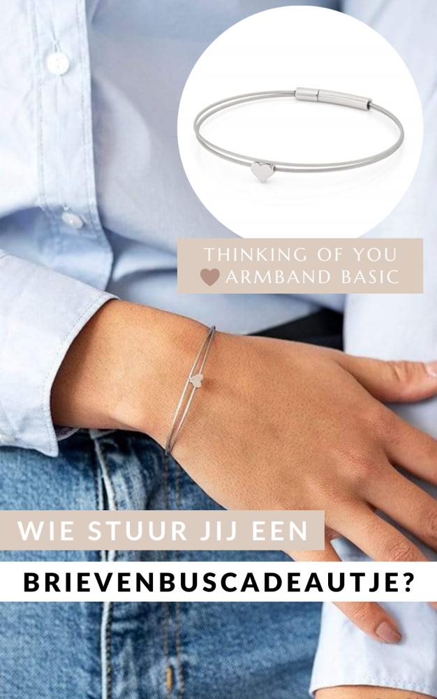 Thinking of You ❤️ Armband Basic Silber