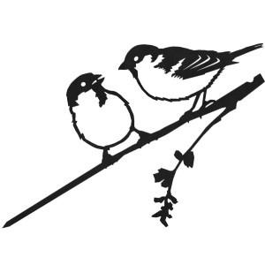 Nieuw ! Voor alle vogelliefhebbers raamstickers van Metalbird