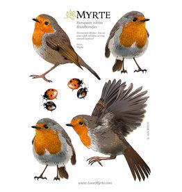 Myrte Wall sticker Robin