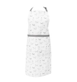 Clayre & Eef Apron Dog Friends, Gray