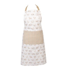 Clayre & Eef Apron Country Life Animals, Natural