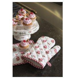 Clayre & Eef Ofenhandschuh Kinder Kirsch Cupcakes