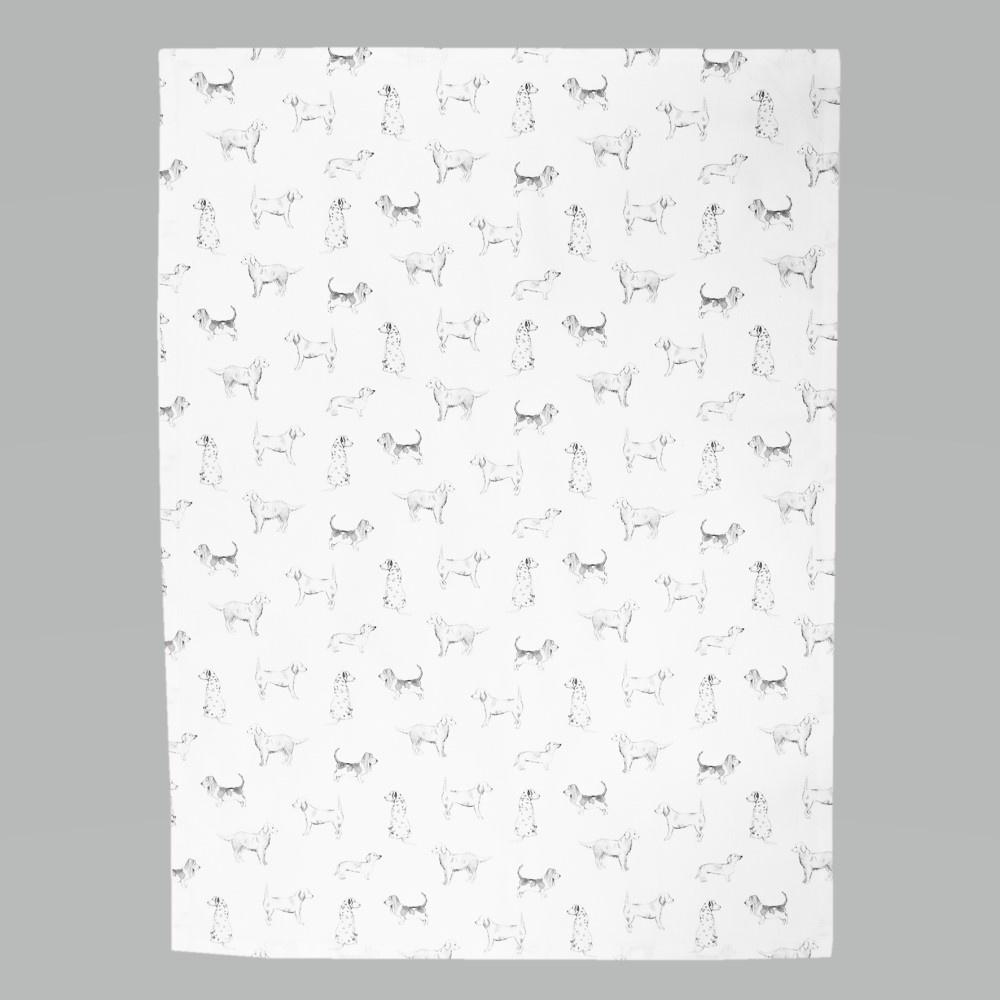 Tea towel Dog Friends