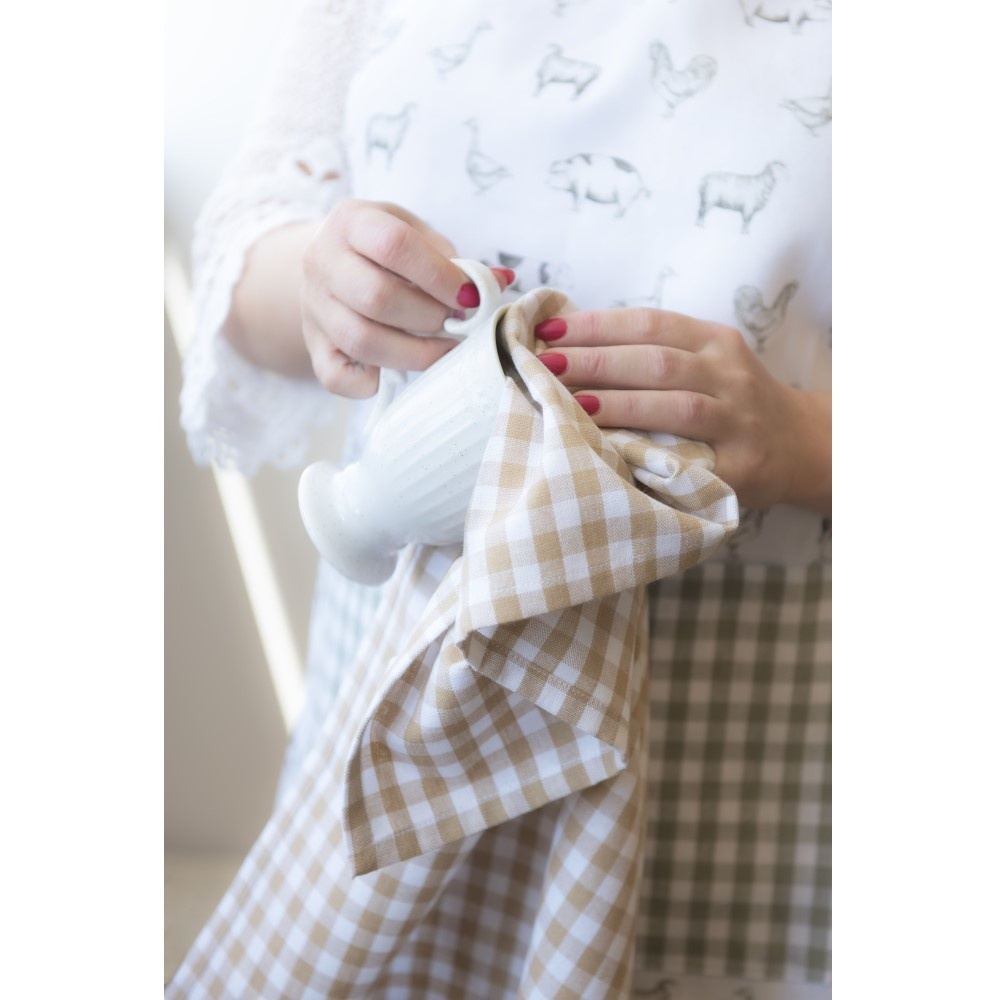 Child's apron Country Life Animals, Natural