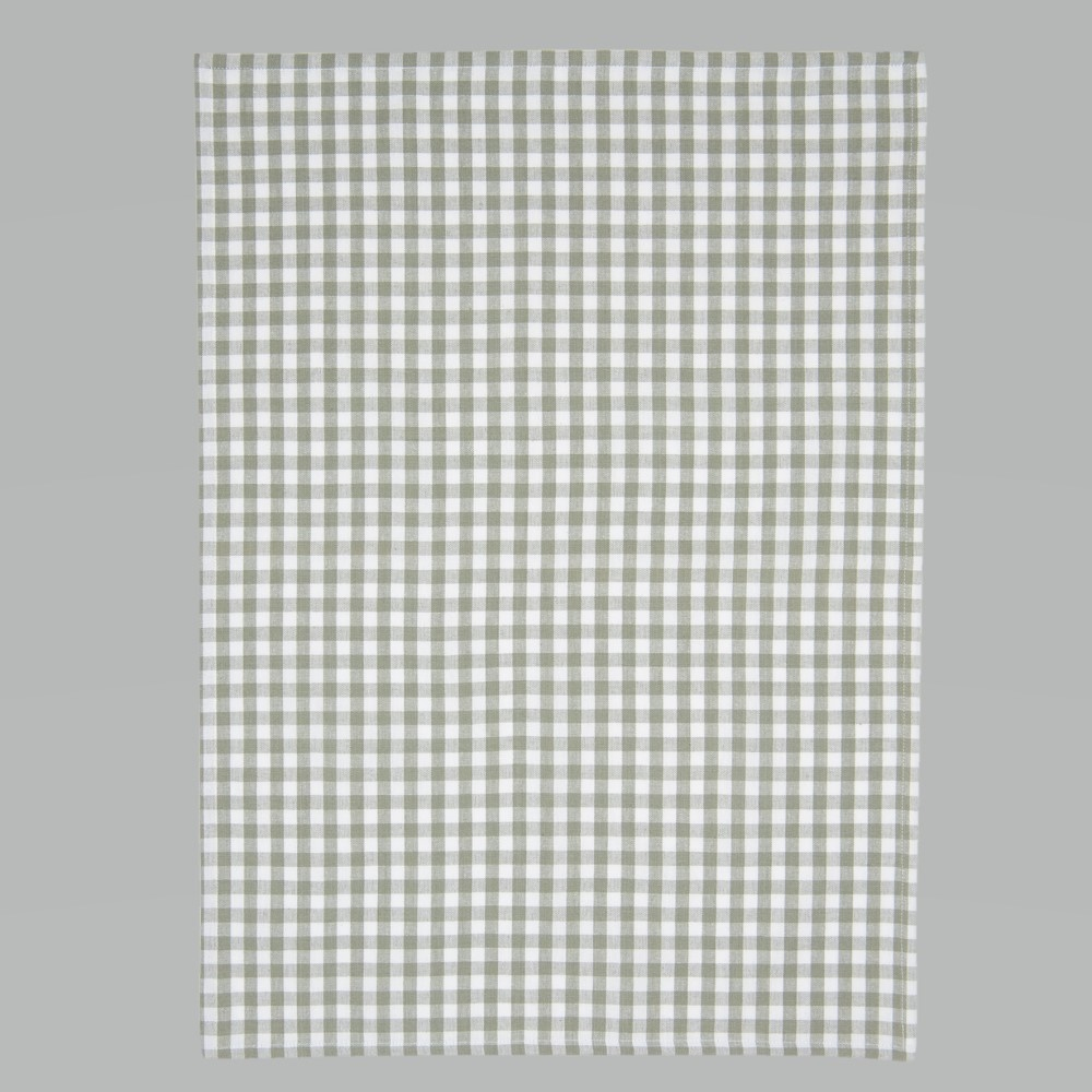 Tea Towel Green Checkered