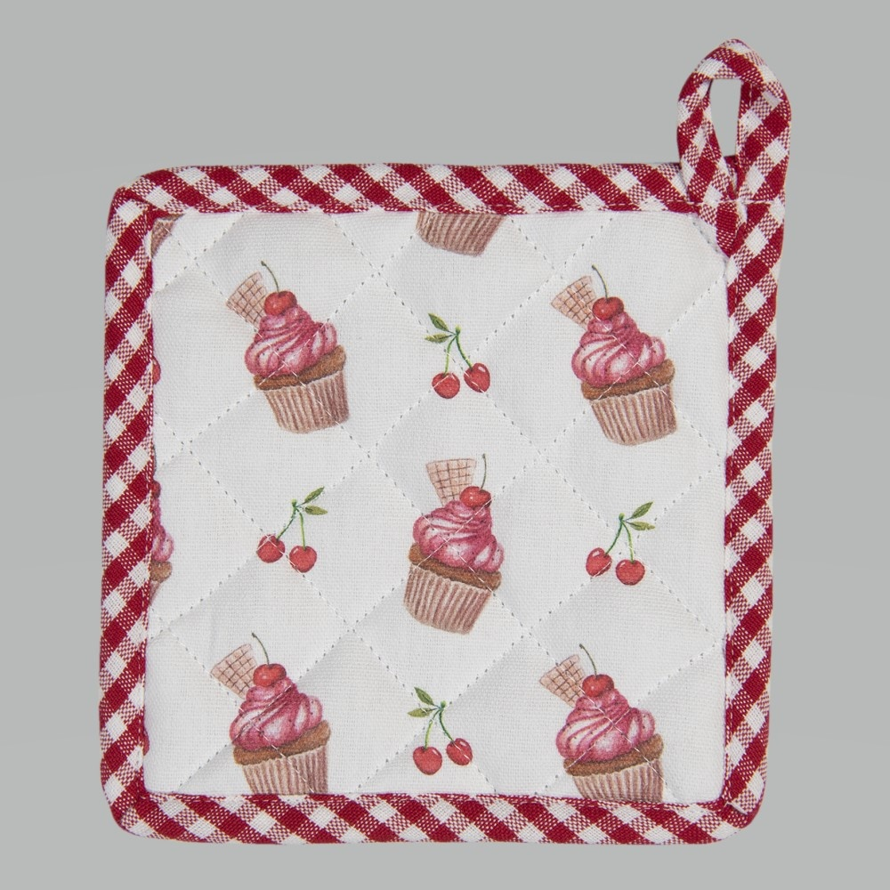 Topflappen Kinder Cherry Cupcakes