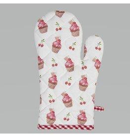 Clayre & Eef Ovenhandschoen Cherry Cupcakes