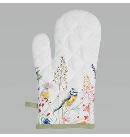 Clayre & Eef Oven Glove Birds & Butterflies