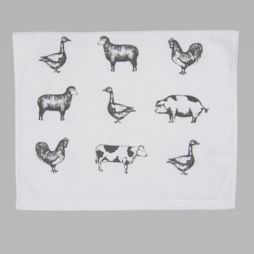 Gastendoek/Handdoek Country Life Animals