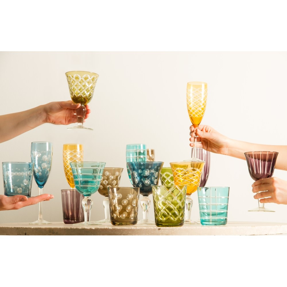 Champagnerglas Mehrfarbiges 6er-Set