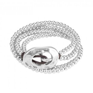 UNOde50 UNO de 50 Armband | BOLUDA | Zilver | Wikkel armband