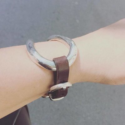 UNOde50 UNOde50 Armband   BITE   Zilver   Leer   Uniek Design   PUL0228MARX