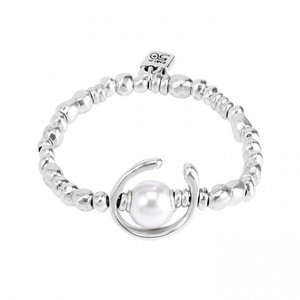 UNOde50 UNOde50 Armband | ANOTHER ROUND | Zilver | Parel