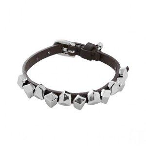 UNOde50 UNOde50 Armband | ICE CUBES | Zilver | Leer | Stoer