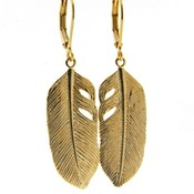 LILLY LILLY Oorbellen - Big Feather Gold   G50