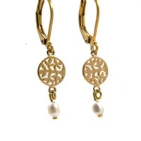 LILLY LILLY Oorbellen | Tree of Life | Verguld | Pearl