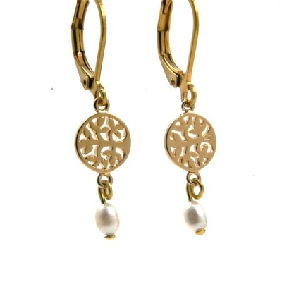 LILLY LILLY Oorbellen - Tree of Life Gold | Pearl | G53