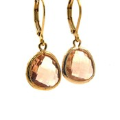 LILLY LILLY Oorbellen - Drop Crystal Gold | Champagne | G43