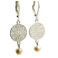 LILLY LILLY Oorbellen - Filli Medium Silver | Pearl | Zilver