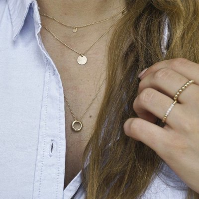 MIAB Jewels MIAB Ketting | Goud | Rocky Ring | Gold Filled