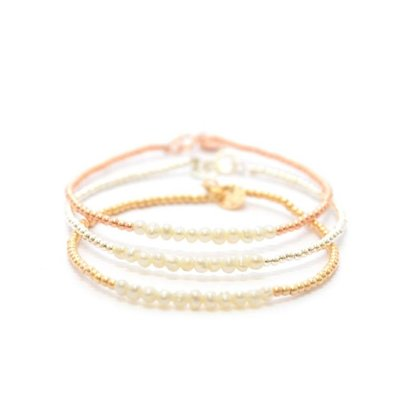 MIAB Jewels MIAB Armband   Rosé Goud   Parel   14k Gold Filled