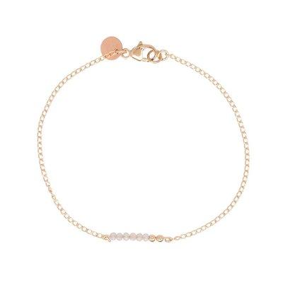 MIAB Jewels MIAB Armband   Rosé Goud   Soft Taupe Chain   14k Gold Filled