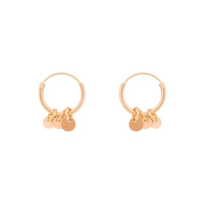 MIAB Jewels MIAB Oorbellen | Rosé Goud | Roundy Rounds | 14k Rose Gold Vermeil