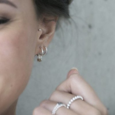 MIAB Jewels MIAB Oorbellen | Zilver | Roundy Rounds | 925 Sterling Zilver
