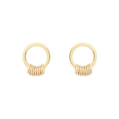 MIAB Jewels MIAB Oorbellen | Goud | Circle Around | 14k Goud Vermeil