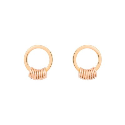 MIAB Jewels MIAB Oorbellen | Rosé Goud | Circle Around | 14k Rosé Goud Vermeil