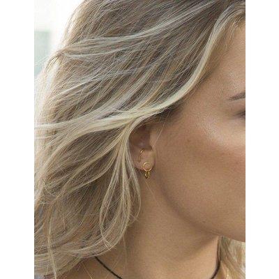 MIAB Jewels MIAB Oorbellen | Goud |Double Loop | 14k Goud Vermeil