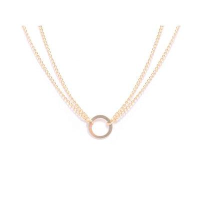 MIAB Jewels MIAB Ketting | Goud | Round Edge | Gold Filled
