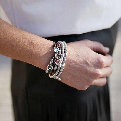 UNOde50 UNOde50 Armband | ORANGE STONE | Zilver | Swarovski | PUL1690NRJMTL0M
