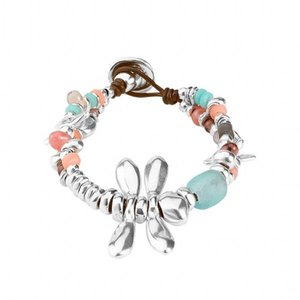 UNOde50 UNOde50 Armband | ALL THE TIME | PASTEL | ZILVER |  LIBELLE