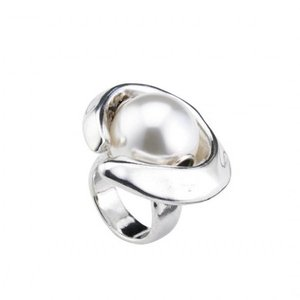 UNOde50 UNOde50 Ring | HALF MOON | Zilver | Parel