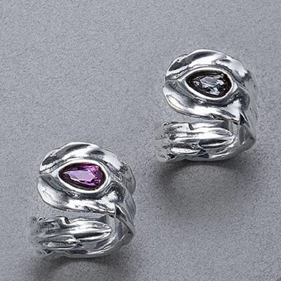 UNOde50 UNOde50 Ring | LOOK AT ME | Zilver | Kristal | Grijs | FW18 | ANI0579GRSMTL