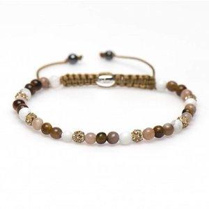 KARMA Jewelry KARMA Armband | Spiral Azalea XXS | Gold Crystal | 84219