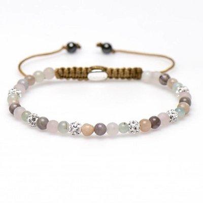 KARMA Jewelry KARMA Armband | Spiral Clover XXS | White Crystal | 84224