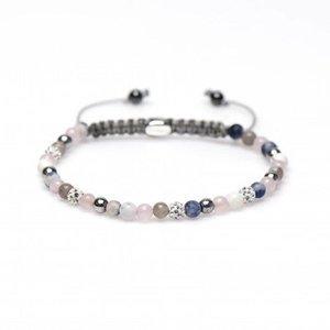 KARMA Jewelry KARMA Armband | Spiral Daisies XXS | White Crystal | 84228