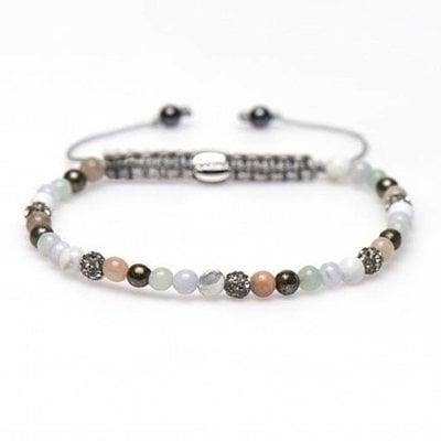 KARMA Jewelry KARMA Armband | Spiral Columbine XXS | Grey Crystal | 84236