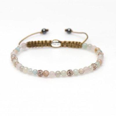KARMA Jewelry KARMA Armband | Spiral Blossom XXS | Champagne Crystal | 84243