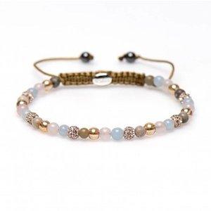 KARMA Jewelry KARMA Armband | Spiral Tulip XXS | Champagne Crystal | 84244